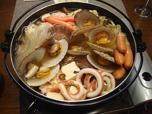 ホタテの稚貝海鮮鍋